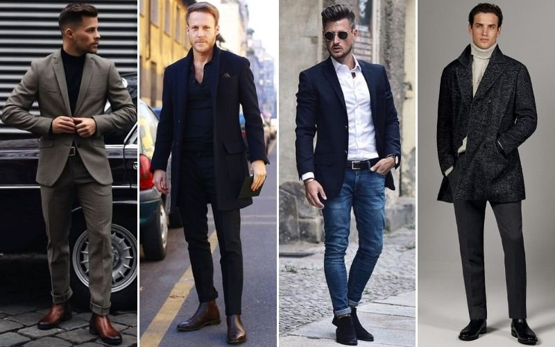 Business Casual Chelsea Boots Outfits