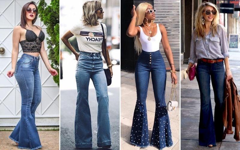 High Waisted Bell-Bottom Jeans