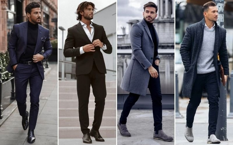 Semi-Formal Chelsea Boots Outfits