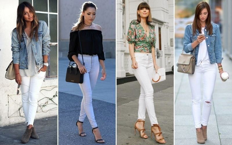 White High Waisted Jeans