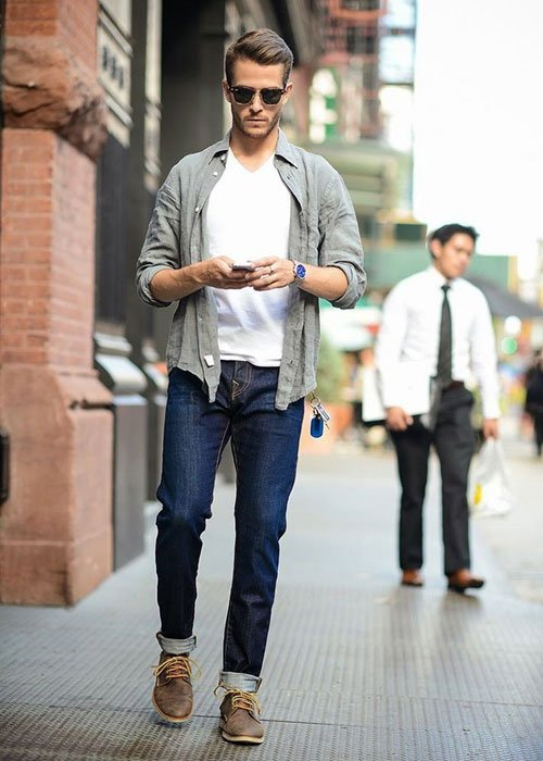 Casual Chukka Boots Outfits