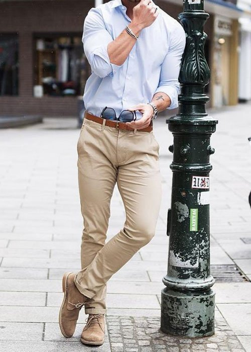 Chukka Boots with Chinos