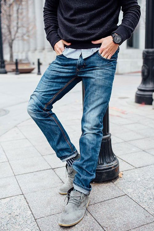 Chukka Boots with Jeans