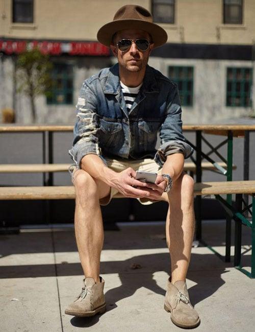 Chukka Boots with Men's Shorts