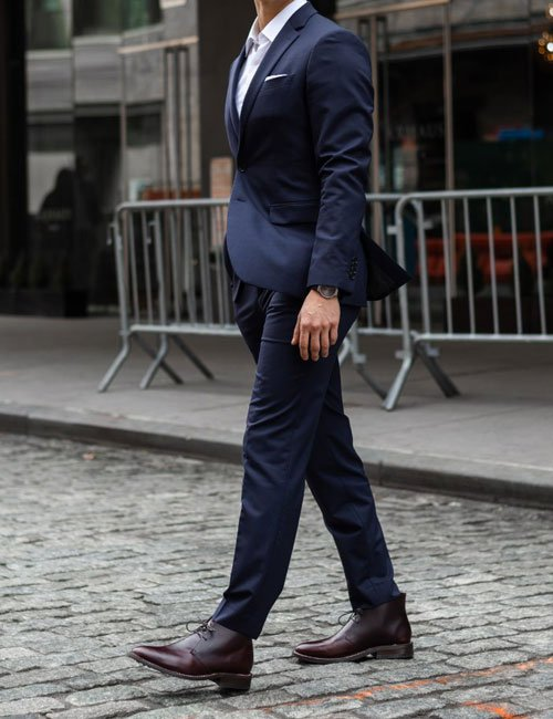 Chukkas and Suit