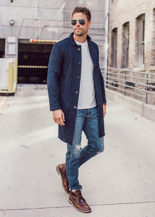 Smart Casual Chukka Boots Outfits