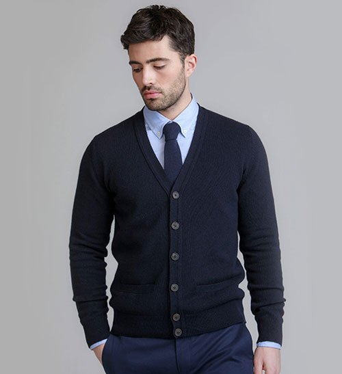 Button-Up Cardigan Outfits Men