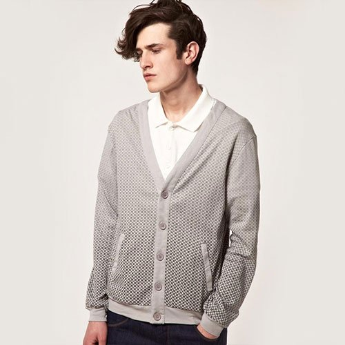 Cardigan with Collared Shirt
