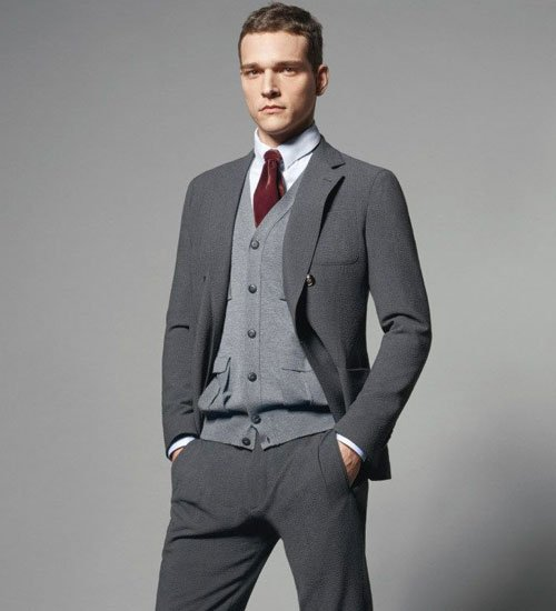 Cardigan with Suit