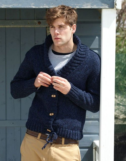 Chunky Knit Cardigan Outfits Men