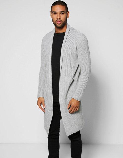 Grey Men's Cardigan Outfits