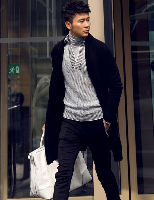 Men's Cardigan with Pants Outfits