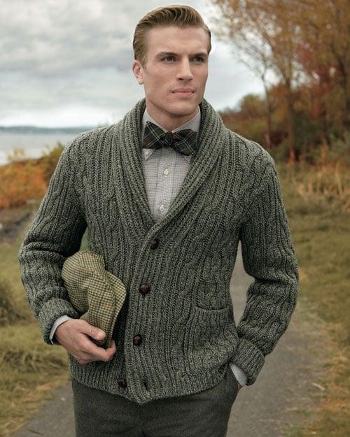 Semi-Formal Cardigan Men's Outfit