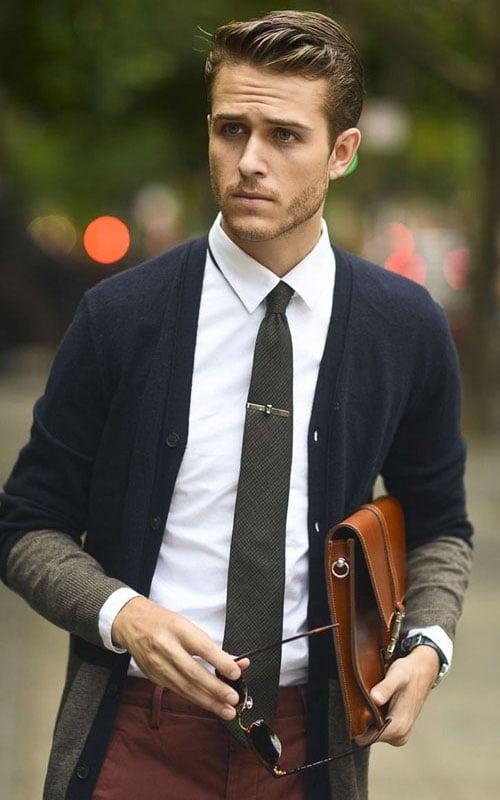 Semi-Formal Cardigan Outfit Men